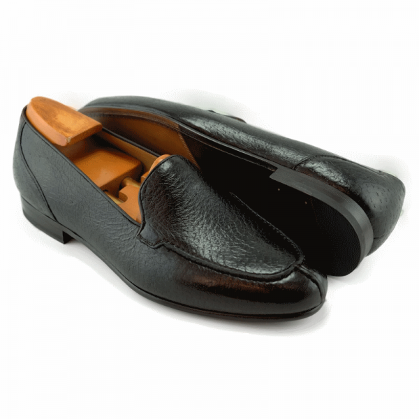 Baker Benjes Wilbur Peccary Loafers Black Image
