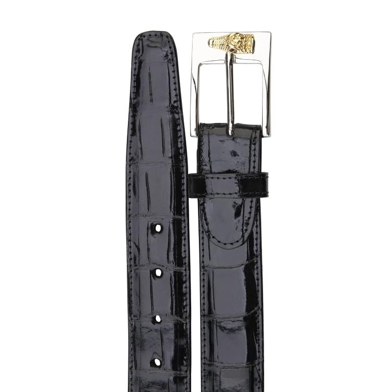 Belvedere Alligator Belt Black Image