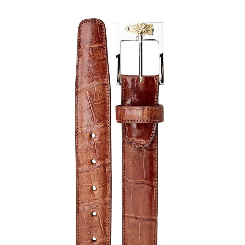 Belvedere Alligator Belt Cognac Image