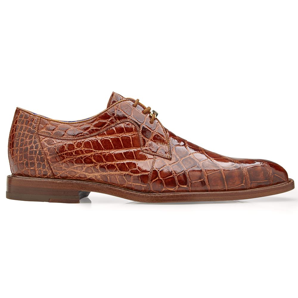 Belvedere Amato Alligator Dress Shoes Antique Brandy Image