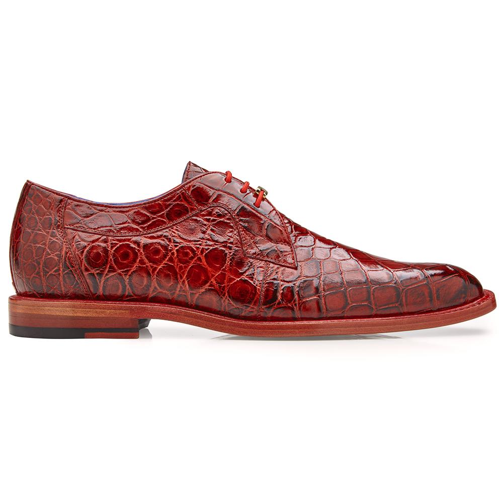 Belvedere Amato Alligator Dress Shoes Antique Red Image