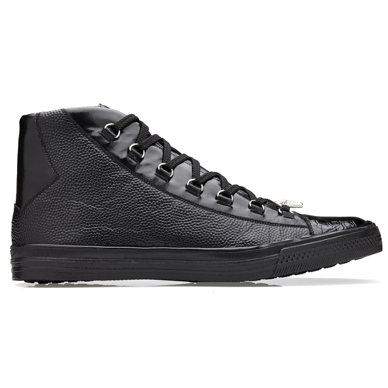 Belvedere Angelo Crocodile / Calf Sneakers Black Image