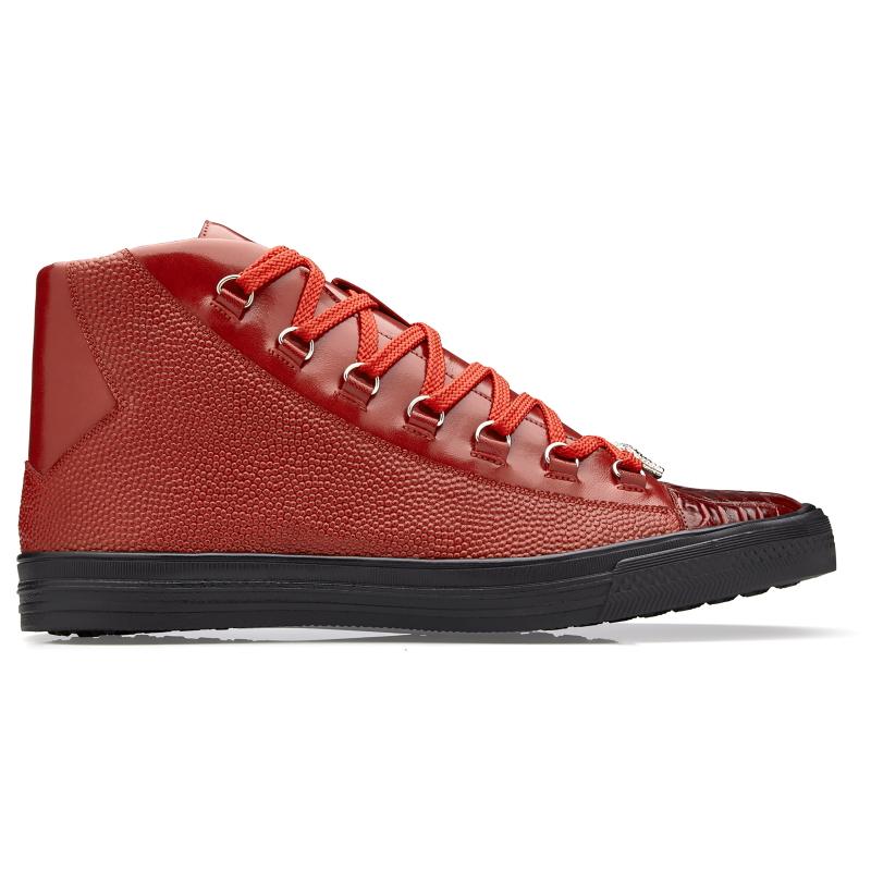 Belvedere Angelo Crocodile & Calf Sneakers Red Image