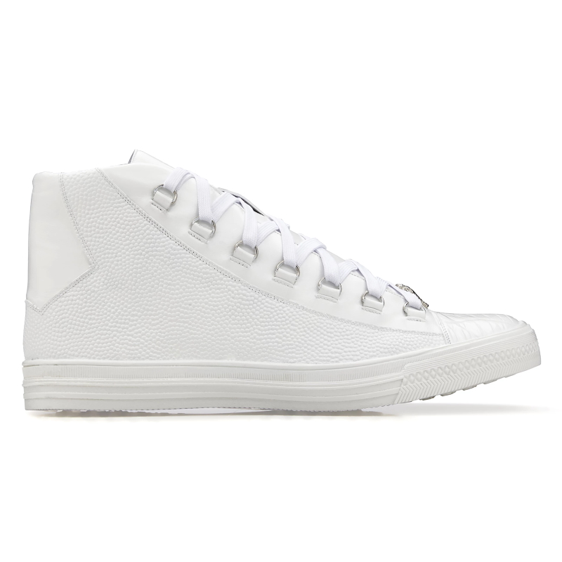 Belvedere Angelo Crocodile & Calf Sneakers White Image