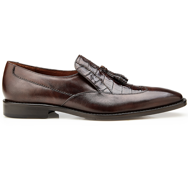 Belvedere Bosco Alligator & Calf Tassel Loafers Tobacco Image