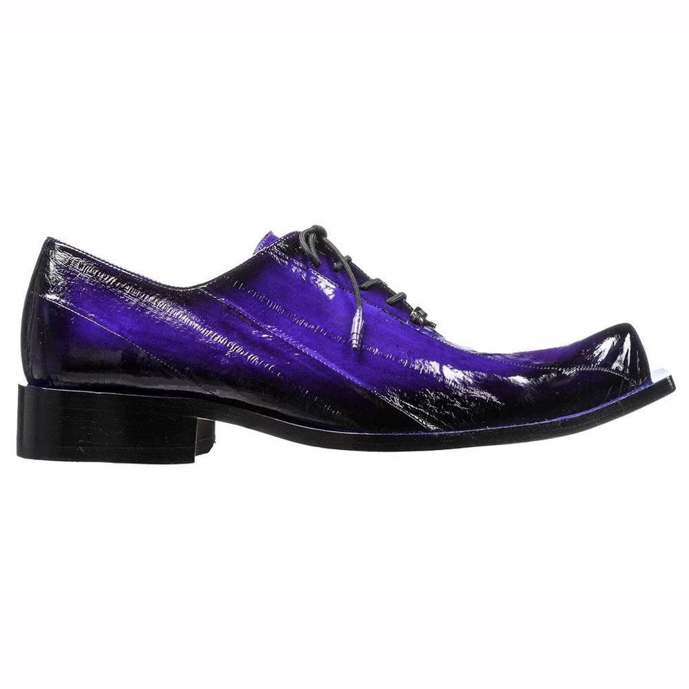 Belvedere Byron Eel Dress Shoes Antique Purple Image