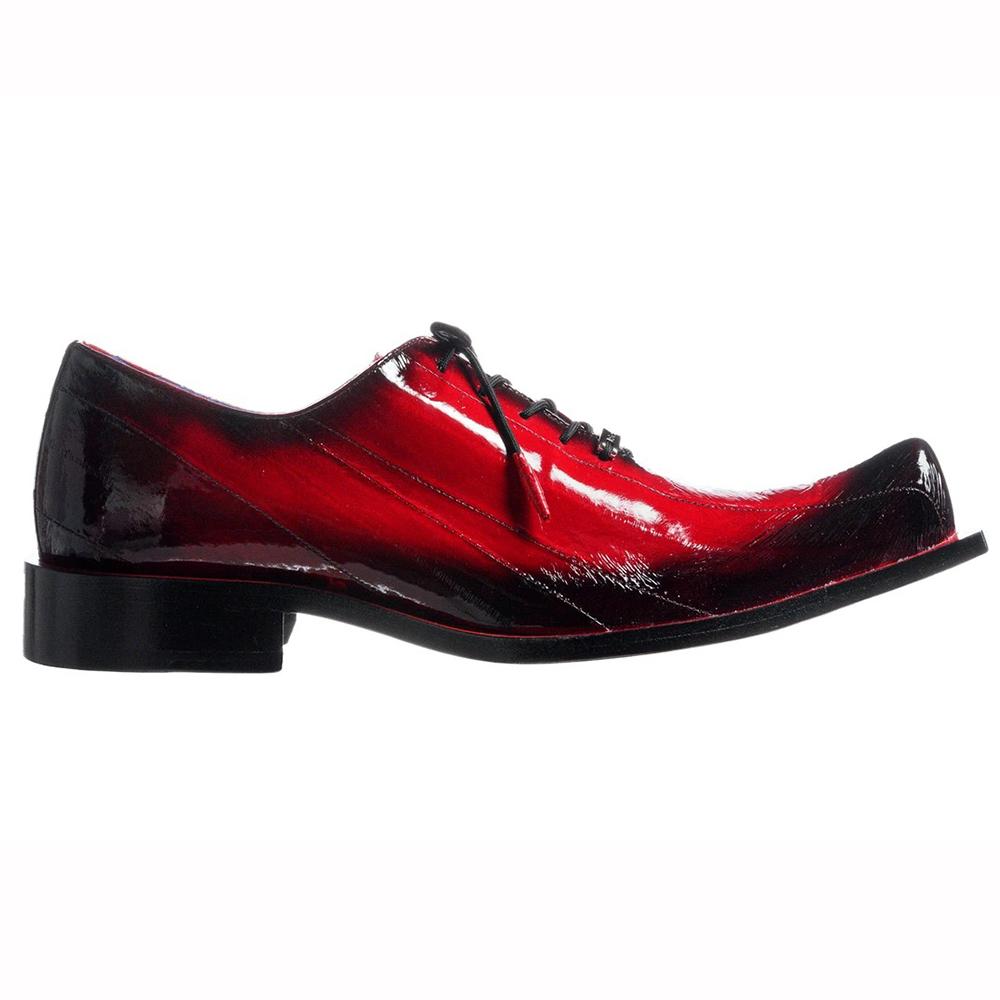 Belvedere Byron Eel Dress Shoes Antique Red Image