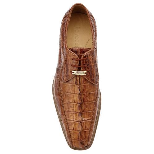 Belvedere Colombo Hornback Crocodile Shoes Camel Image