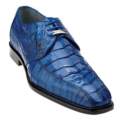 Belvedere Colombo Hornback Crocodile Shoes Ocean Blue Image