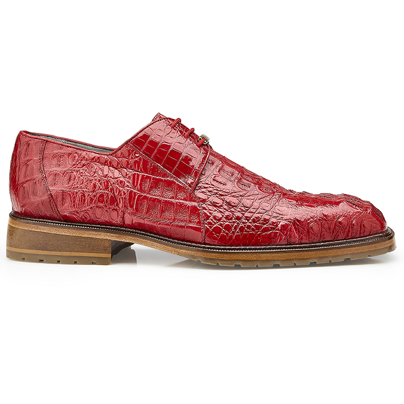 Belvedere Coppola Hornback Crocodile Shoes Flame Red Image