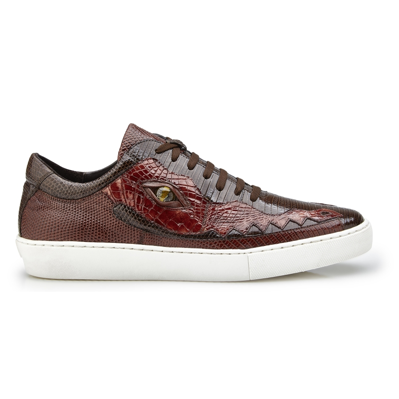 Belvedere Corona Crocodile & Lizard Sneakers Brown / Light Brown Image