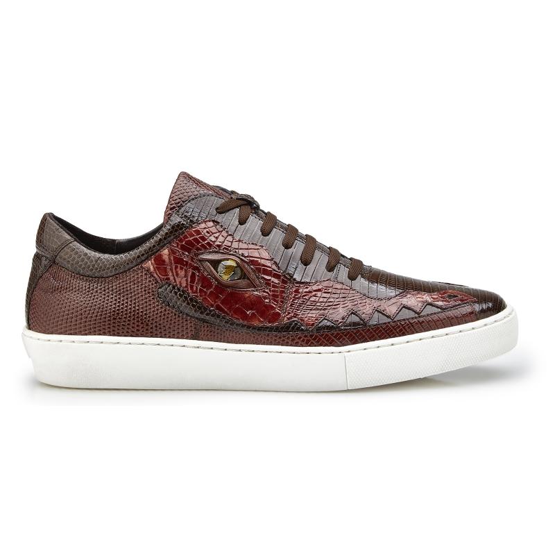 Belvedere Corona Crocodile & Lizard Sneakers Brown / Light Brown Image