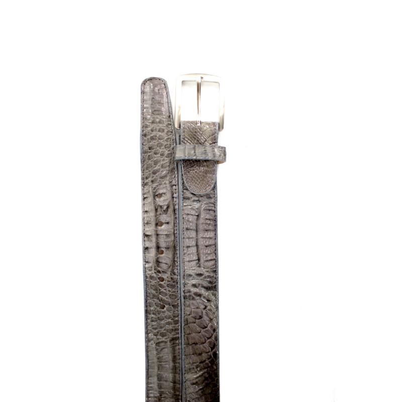 Belvedere Crocodile Belt Gray Image