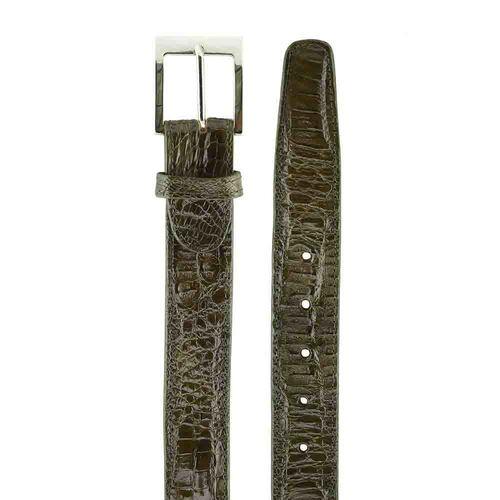 Belvedere Crocodile Belt Olive Image