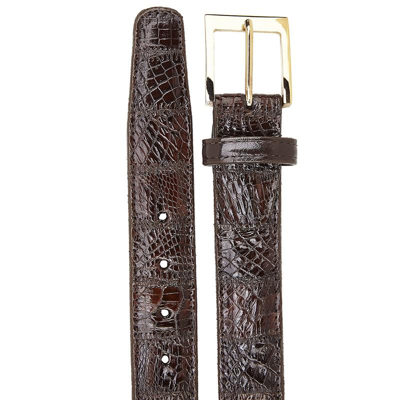 Belvedere Crocodile Belt Patchwork Brown Image