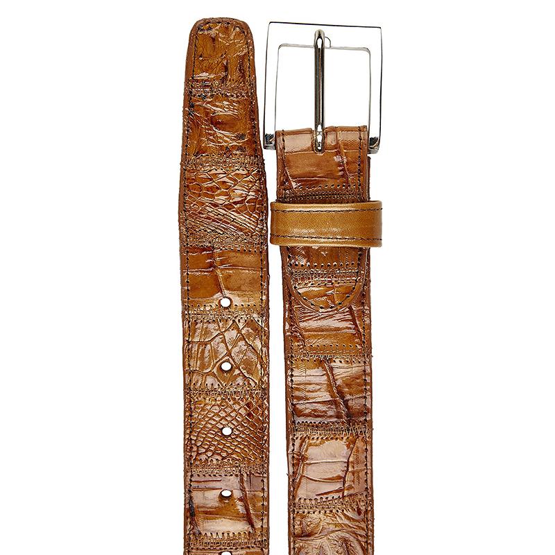 Belvedere Crocodile Belt Patchwork Honey Image