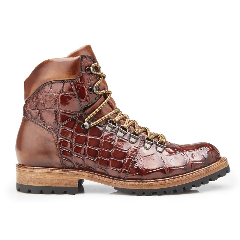Belvedere Damian Alligator & Calfskin Boots Peanut Image