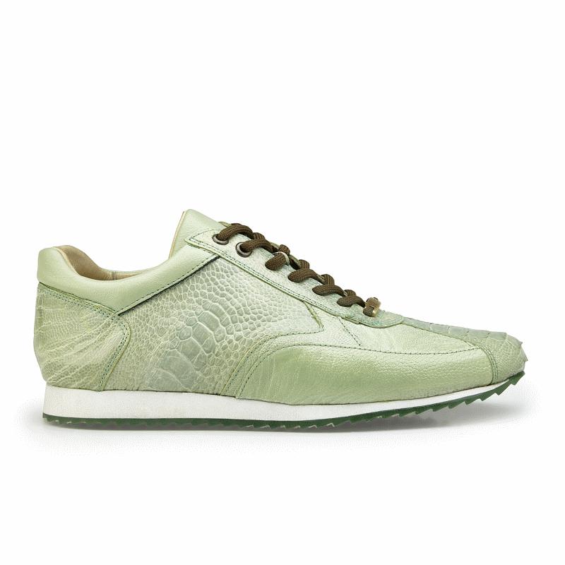 Belvedere Dayton Ostrich Leg Sneakers Pistachio Image