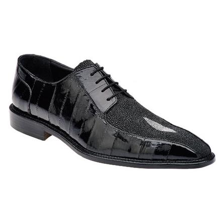 Belvedere Forma Eel & Stingray Shoes Black Image