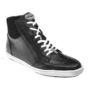 Belvedere Franco Crocodile & Soft Calfskin High Top Sneakers Black Image