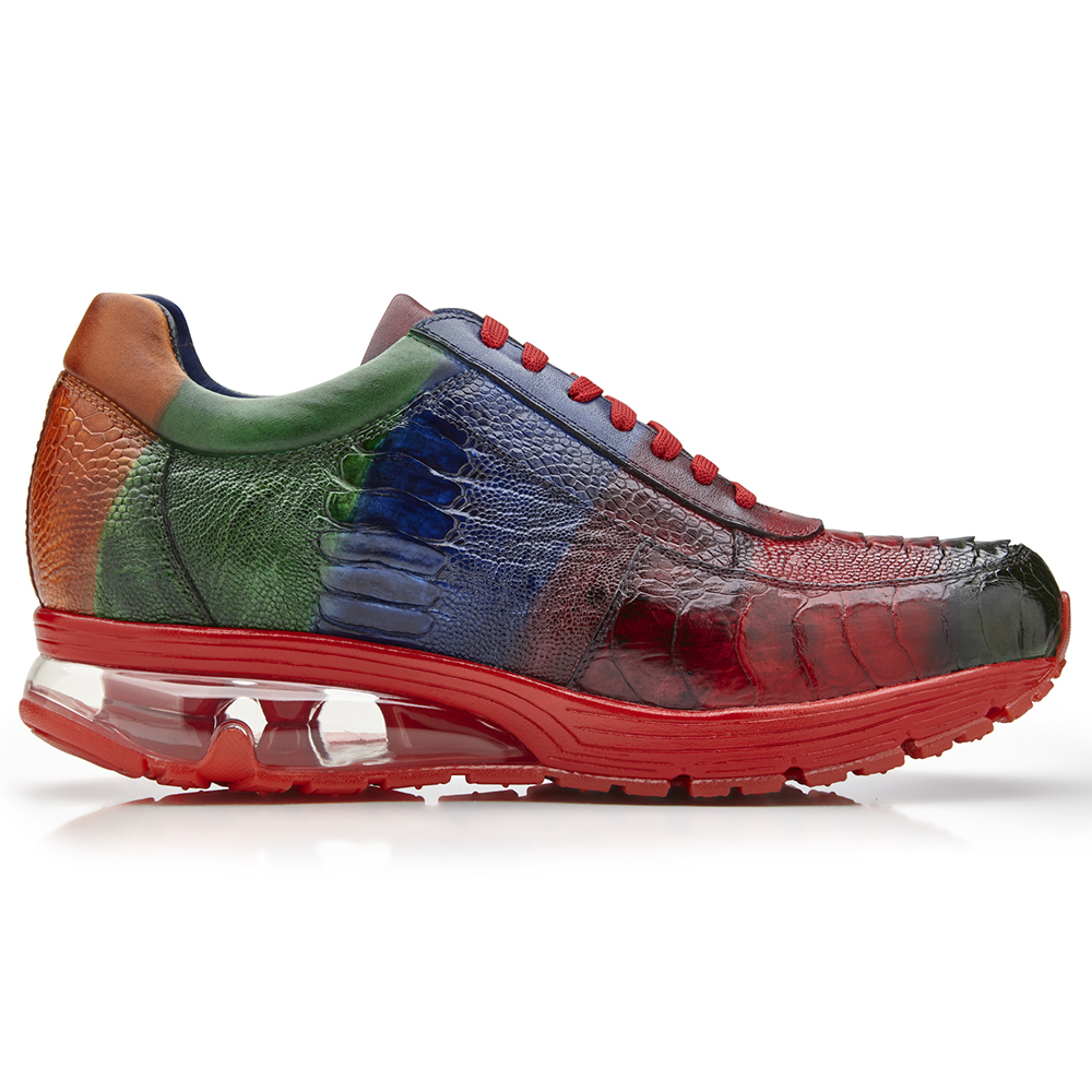Belvedere George Ostrich Leg Sneakers Multi Color Image