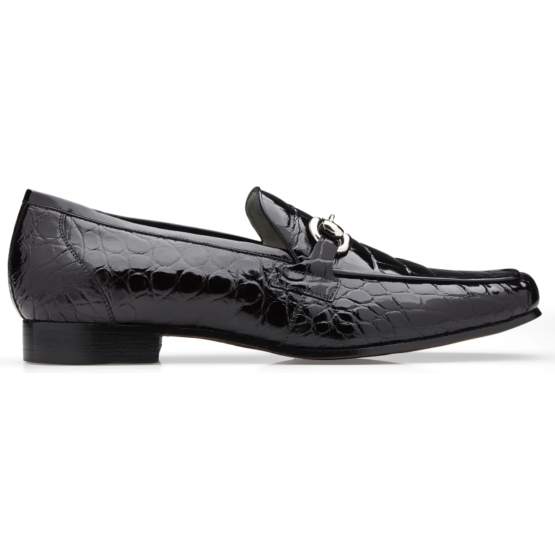 Belvedere Gerald Alligator Bit Loafers Black Image