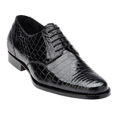 Belvedere Gino Crocodile Shoes Black