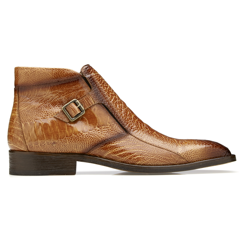 Belvedere Gregg Ostrich Ankle Boots Antique Almond Image