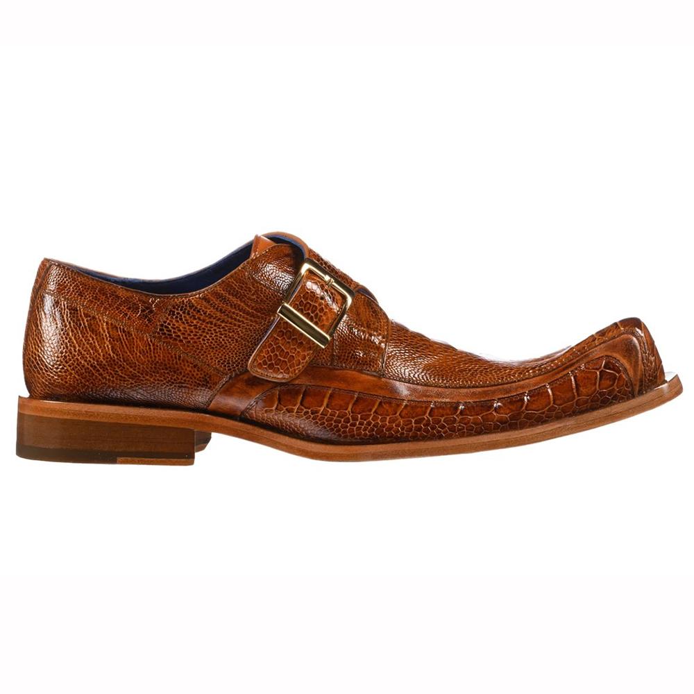 Belvedere Hunter Ostrich Leg / Calfskin Shoes Antique Burnt Amber Image