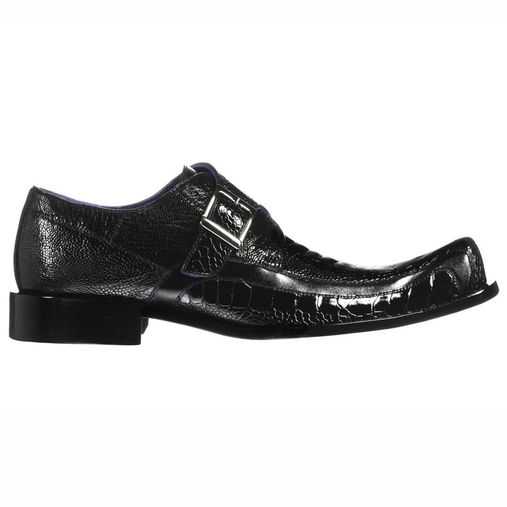 Belvedere Hunter Ostrich Leg / Calfskin Shoes Black Image