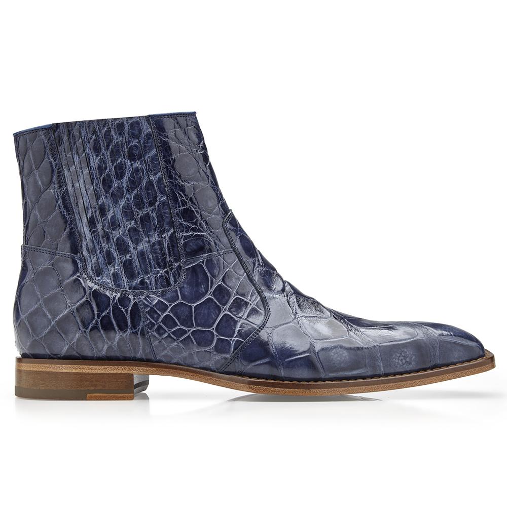 Belvedere Ivan Alligator Boots Sky Blue Image