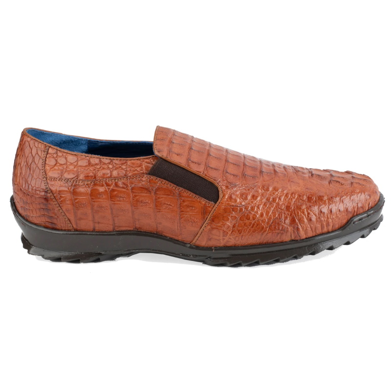 Belvedere Jasper Caiman Hornback Shoes Brandy Image
