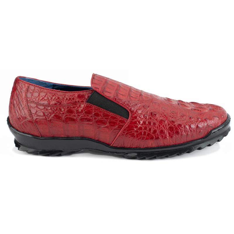 Belvedere Jasper Caiman Hornback Shoes Red Image