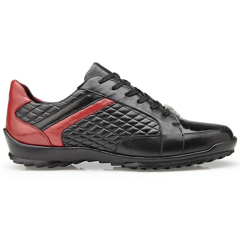 Belvedere Joel Crocodile & Calf Sneakers Black Image