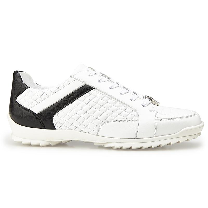 Belvedere Joel Crocodile & Calf Sneakers White Image