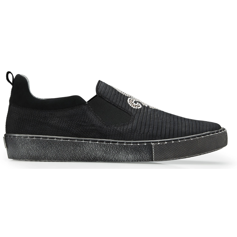 Belvedere Kane Lizard Sneakers Black Image