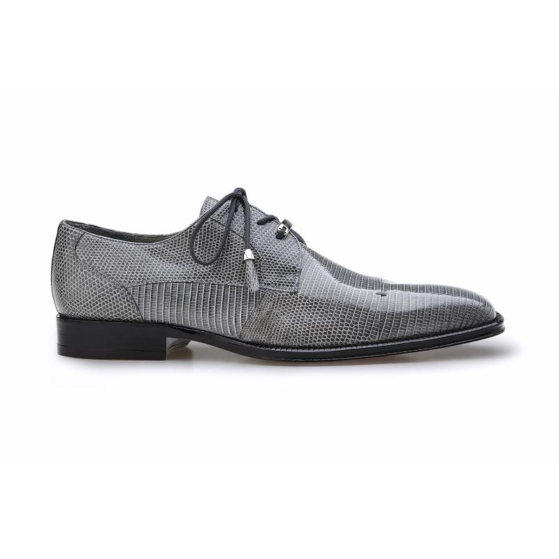 Belvedere Karmelo Lizard Cap Toe Shoes Gray Image