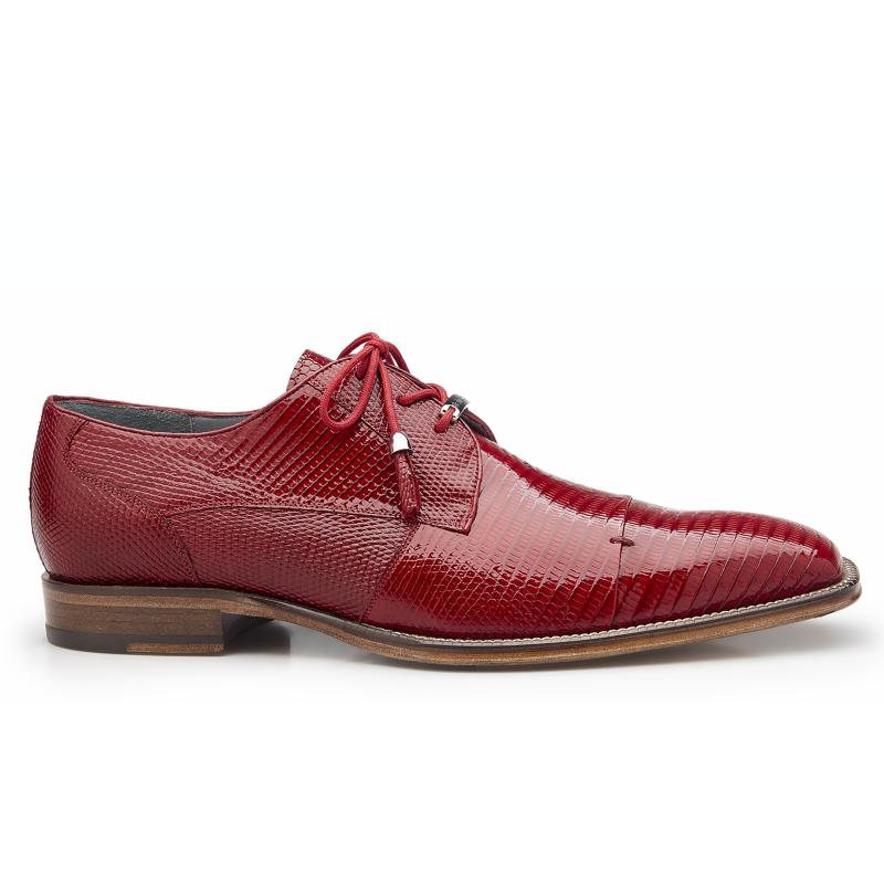 Belvedere Karmelo Lizard Cap Toe Shoes Red