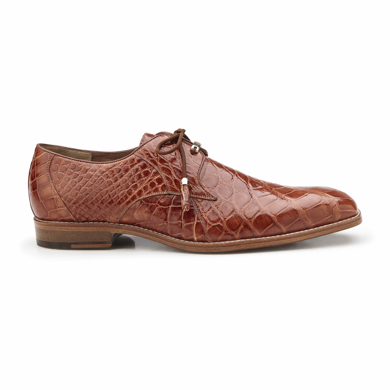Belvedere Lago Alligator Dress Shoes Cognac Image