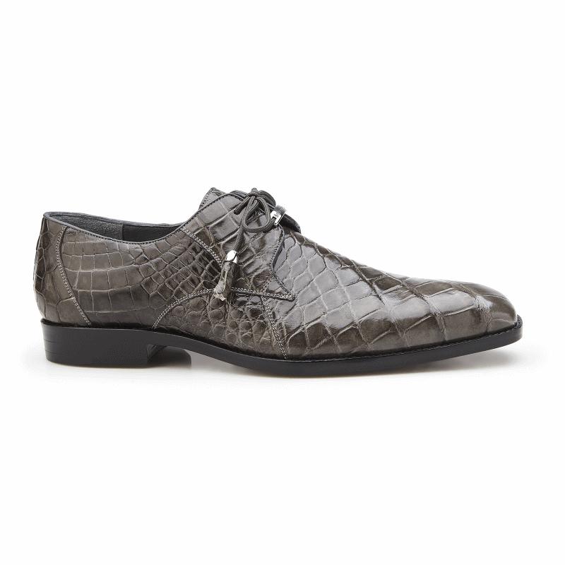 Belvedere Lago Alligator Dress Shoes Gray Image