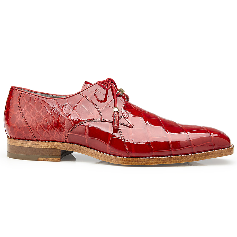 Belvedere Lago Alligator Shoes Red Image