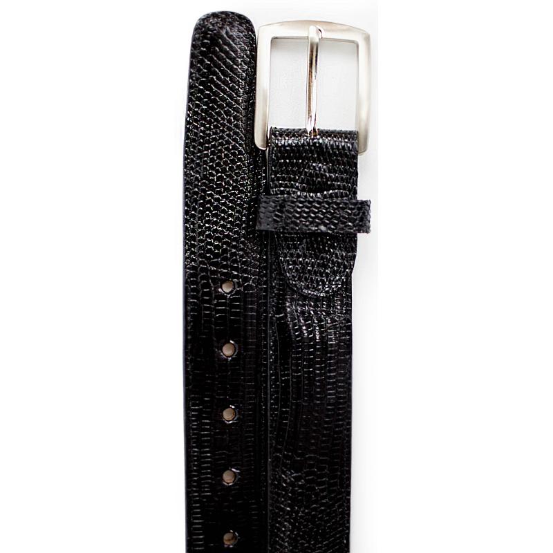 Belvedere Lizard Belt Black Image