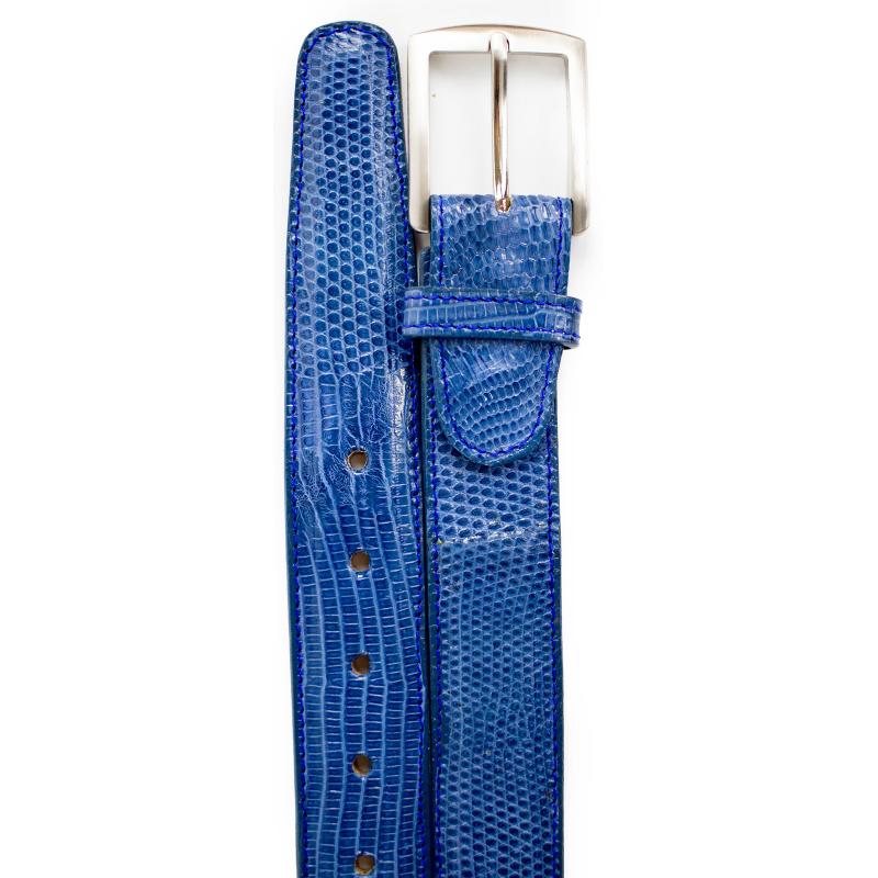 Belvedere Lizard Belt Blue Jean Image