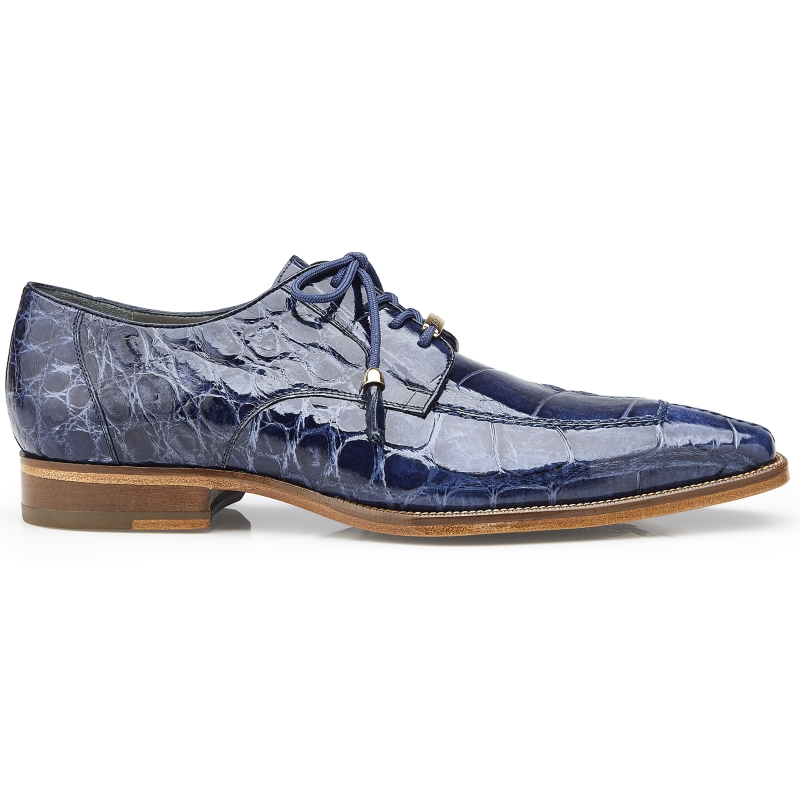 Belvedere Lorenzo Alligator Shoes Sky Blue Image