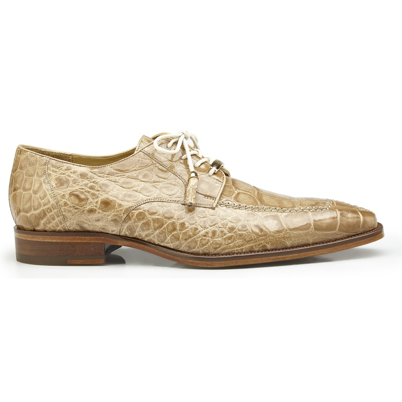 Belvedere Lorenzo Alligator Shoes Taupe Image
