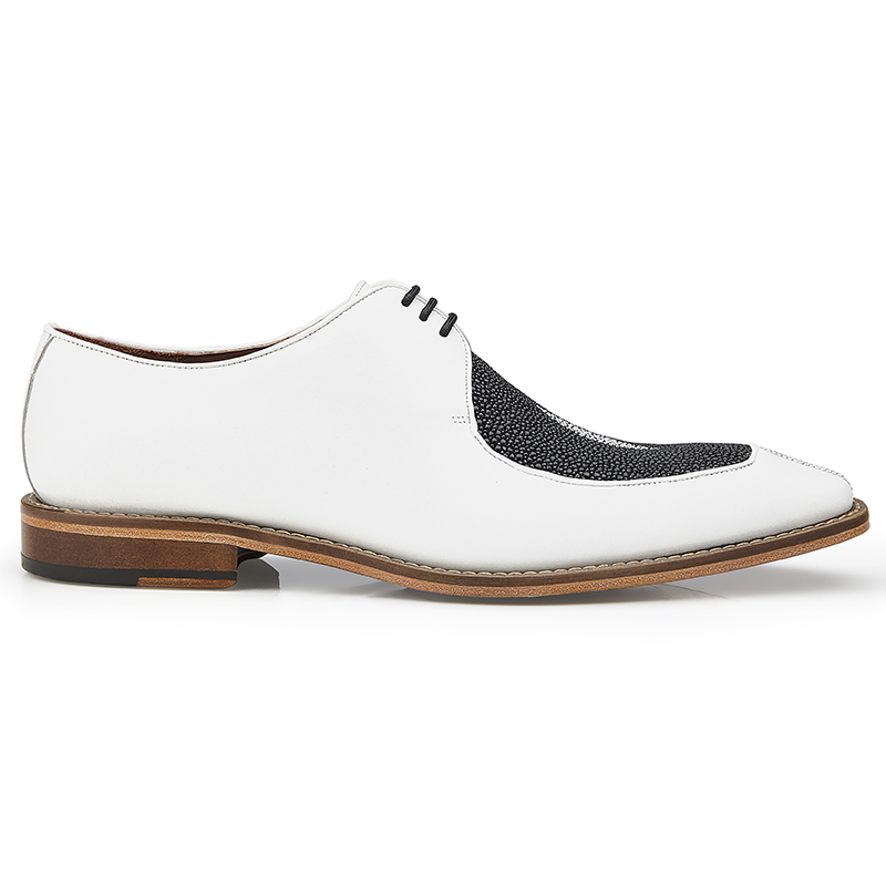 Belvedere Mario Stingray & Calf Shoes Black / White Image