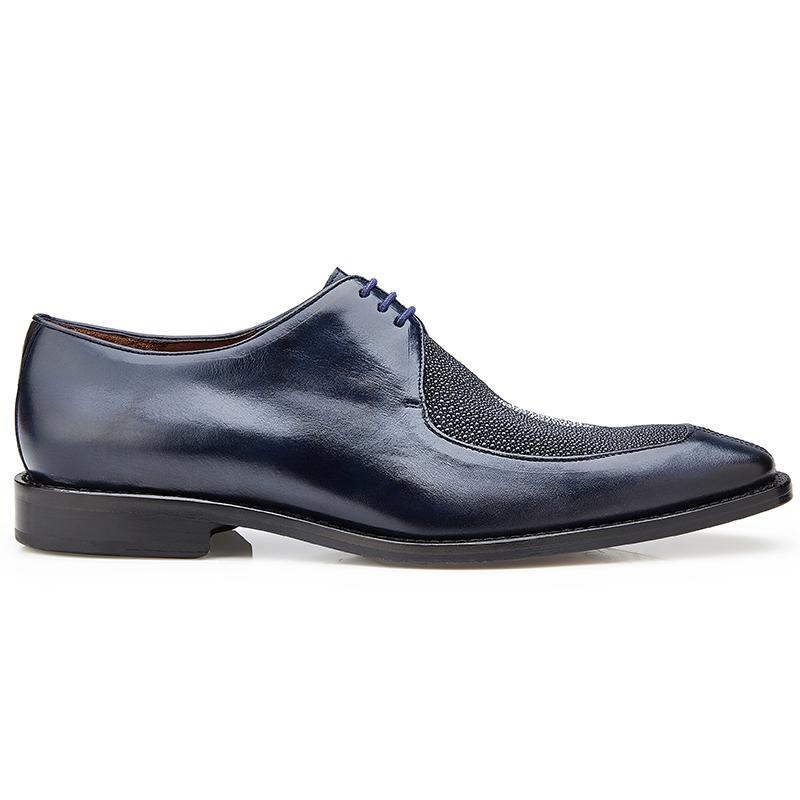 Belvedere Mario Stingray & Calf Shoes Navy Image