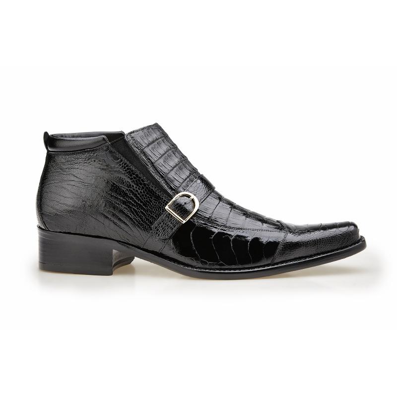 Belvedere Matteo Ostrich & Crocodile Boots Black Image