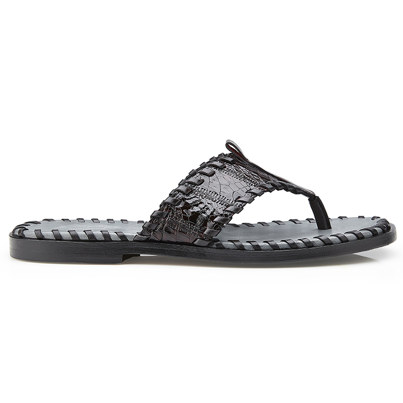 Belvedere Merlin Crocodile Patchwork Slippers Black Cherry Image