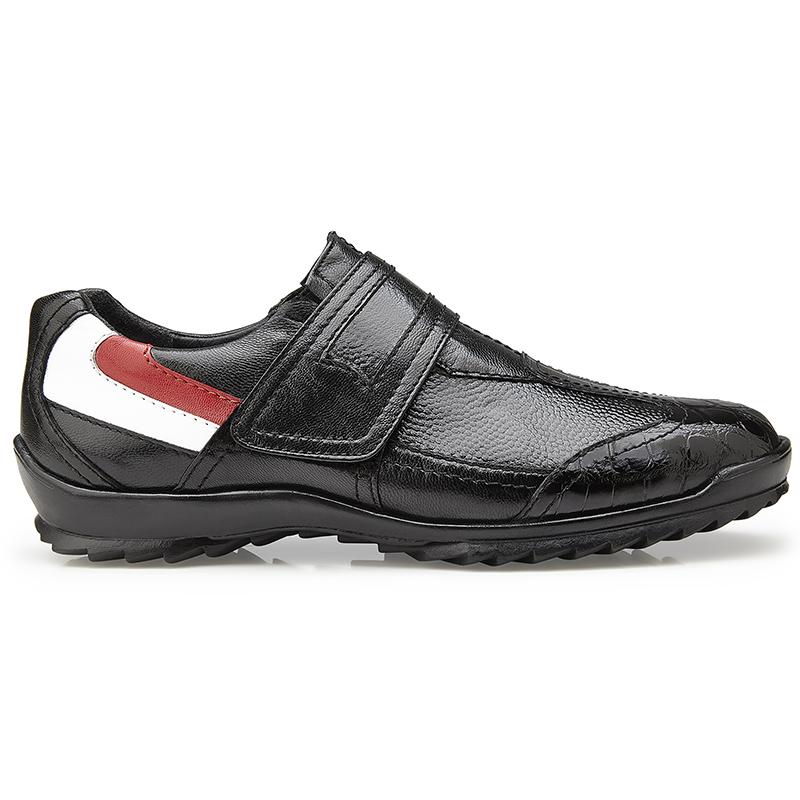 Belvedere Mikele Crocodile & Calf Sneakers Black Image